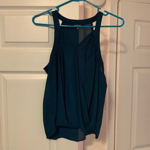 Surplice Wrapped Chiffon Tank!